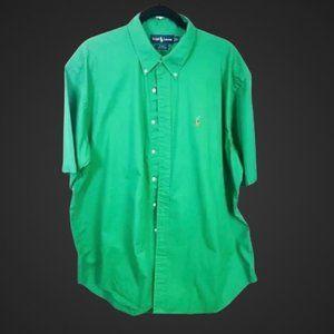 Ralph Lauren Blake Shirt XL Green Short Sleeve